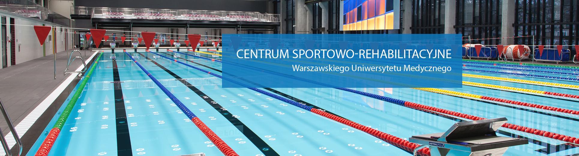 Baner przedstawiający basen olimpijski Centrum Sportowo-Rehabilitacyjnego, Warszawa